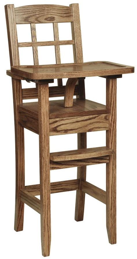 Amish Wooden High Chair by Amish Classic Maysbury Wooden High Chair