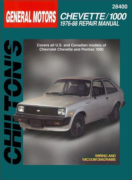 service manual electric and cars manual 1988 pontiac safari auto manual service manual how chevy chevette pontiac 1000 repair manual 1976 1988 chilton