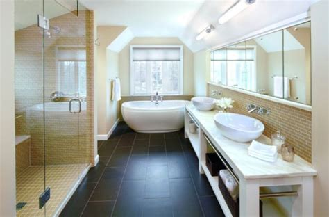 12 stylish and contemporary ways to use subway tiles in how to tile a bathroom floor yourself the easy way