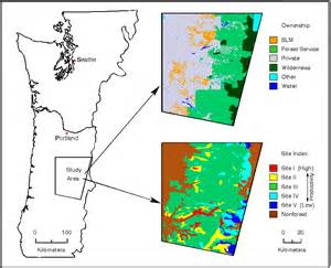 oregon land ownership map spatial and temporal extent ownership and site index map