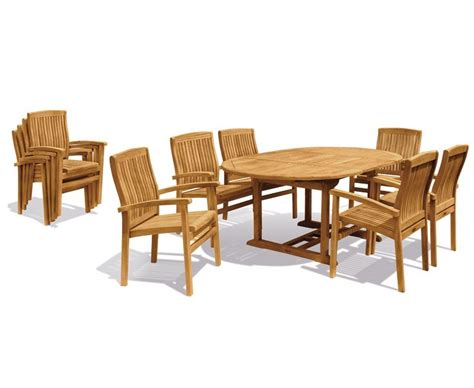 Extendable Dining Sets by Brompton Extendable Dining Table Set With Bali Stacking Chairs