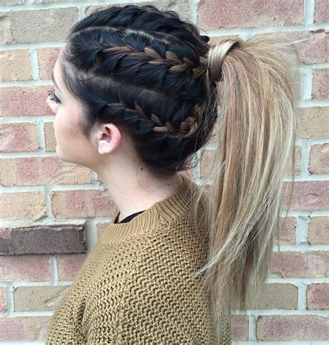 hair braidmed into pony tail with a ball 20 long hairstyles you will want to rock immediately