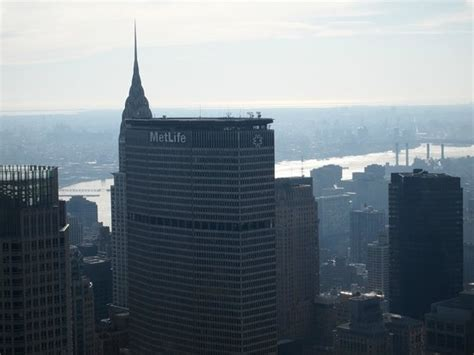 Chrysler Building Observatory by Limited View Of Chrysler Building From Top Of The Rock