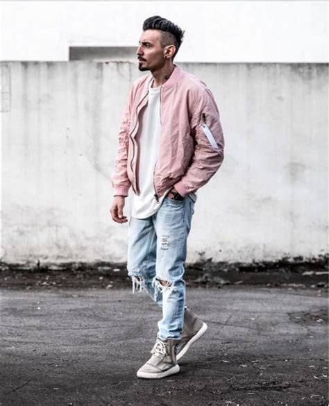 Sweater Bomber Bebe Pink 型男色彩學 誰說粉紅色是女生的 來看四個男生應該嘗試粉色時尚的理由 dappei