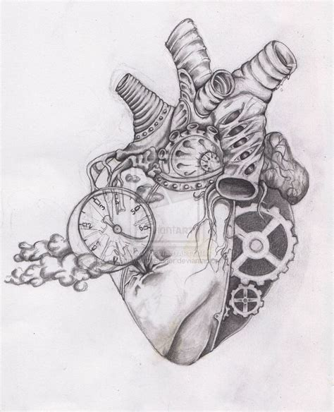 heartbeat tattoo drawing 15 must see heart drawings pins anatomical heart drawing