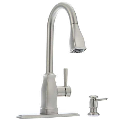 moen one handle pullout kitchen faucet moen hensley single handle pull down sprayer kitchen