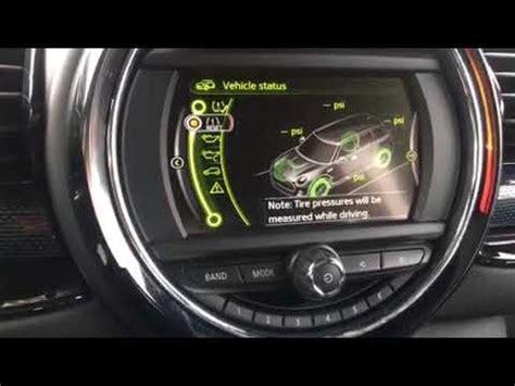 resetting windows mini cooper 2017 mini cooper clubman tire pressure monitor reset youtube
