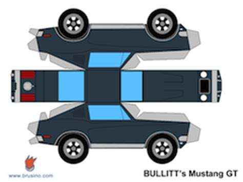 Paper Craft Car - papercraft ford mustang gt