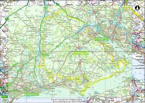 new forest car parks map new forest map images