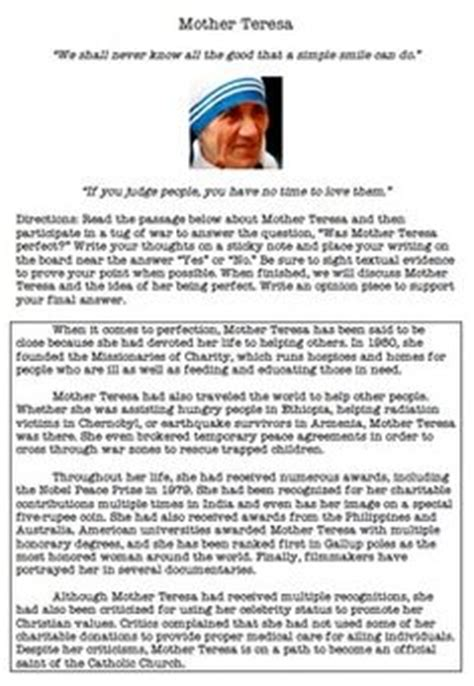 short biography of mother teresa in telugu reading lessons mother teresa and biography on pinterest