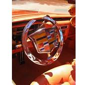 STRANGE CUSTOM CADILLAC STEERING WHEEL WOW