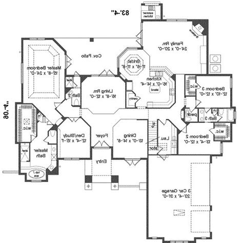 large ranch home floor plans open floor plan ranch style house