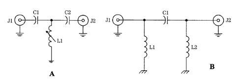 high pass filter lc circuit lc rf filter circuits high pass filters