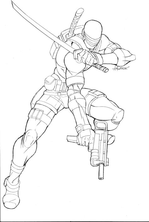 printable snake eyes gijoe free colouring pages