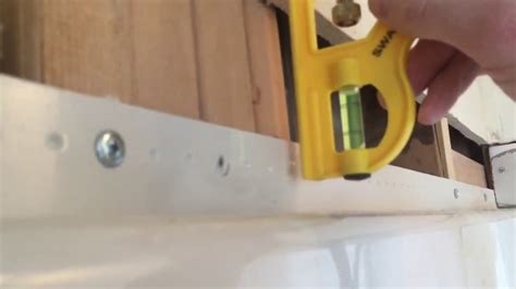 installing drywall around bathtub how to install drywall over a tub or shower flange youtube