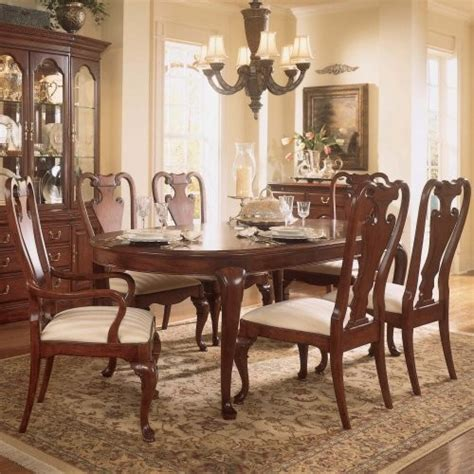 american drew cherry grove 45th 7 pc oval dining table
