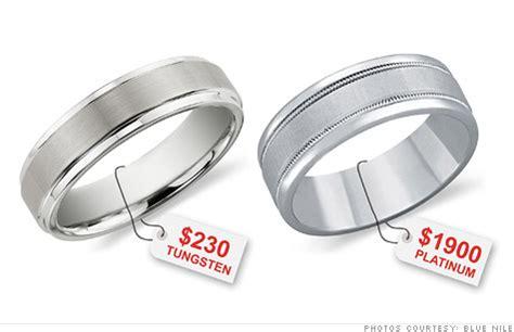 Wedding Rings Prices by Tungsten Cobalt Steel Replacing Gold In Wedding Rings