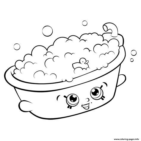Coloring Pages Shopkins Season 5 bathtub shopkins season 5 coloring pages printable