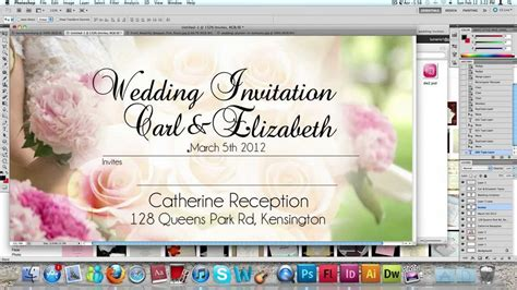 design invitation card in photoshop how to make a wedding invitation card usng photoshop youtube
