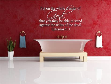 Bible Verse Stickers For Walls epheians 6 11 bible verse vinly wall decal sticker decor