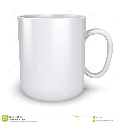 imagenes de tazas blancas taza blanca en blanco ilustraci 243 n del vector ilustraci 243 n