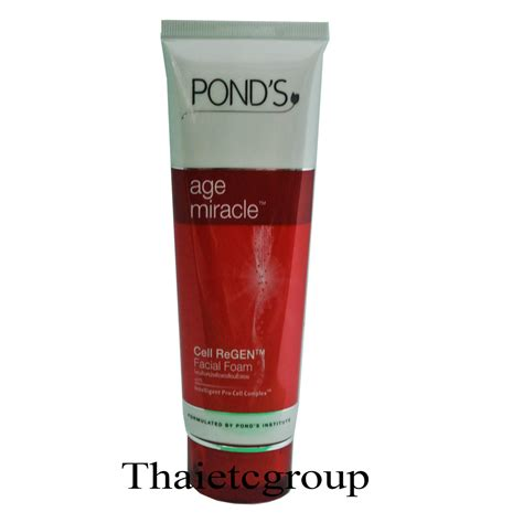 Pembersih Ponds Age Miracle 100g pond s age miracle daily wash foam cell regen cleanser thai etc