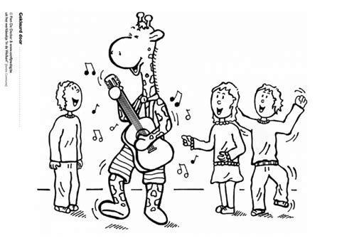 giraffes can t dance coloring pages coloring activity pages giraffe playing the guitar