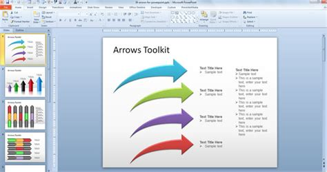 Free Arrows Toolkit For Powerpoint Presentations Arrow Powerpoint Template
