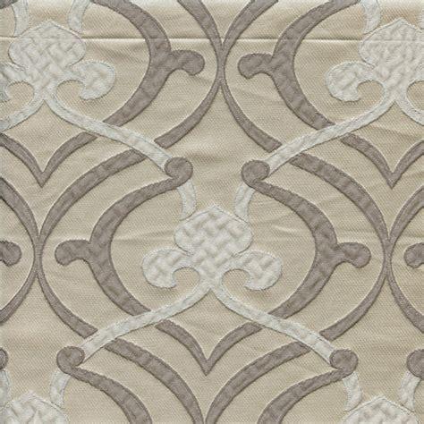Fleur De Lis Upholstery Fabric provincial silver fleur de lis faux silk drapery fabric