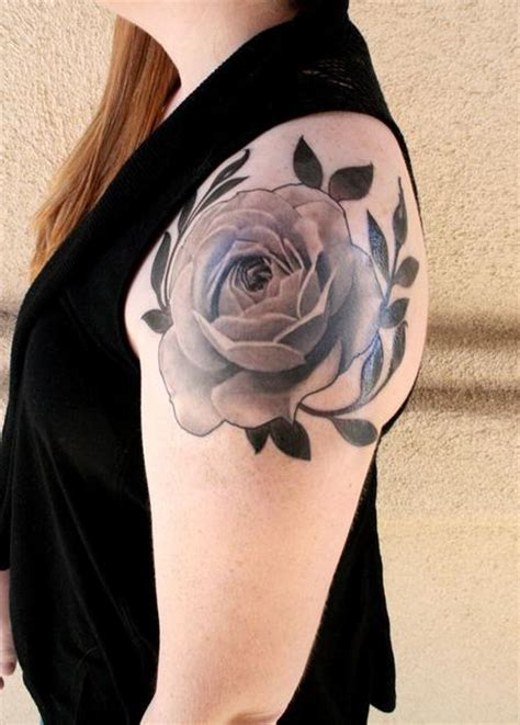Black And Grey Rose By Jeff Norton Tattoos Realistic Black And Grey Flower Tattoos