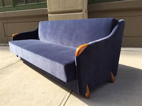 blue velvet sofa for sale 1950s blue velvet sleeper sofa for sale at 1stdibs