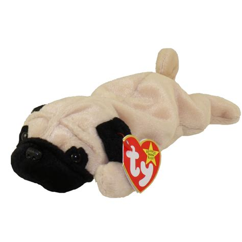 beanie baby pug ty beanie baby pugsly the pug 8 inch bbtoystore toys plush trading