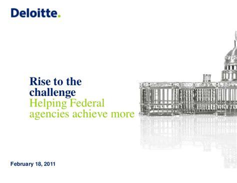 Mba Summer Associate Deloitte Federal by Deloitte Gov Federal Practice