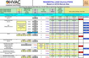Manual J Calculation Spreadsheet Load Calculations Submited Images