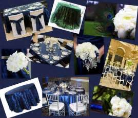 navy blue and silver wedding themes navy blue white silver and peacock feather inspiration board weddingbee photo gallery