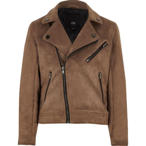 The 7 Jackets You To For by Boys Brown Faux Suede Biker Jacket Jackets Coats