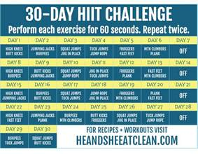 hiit a simple clear cut guide to losing weight with high intensity interval today books 30 day hiit challenge he she eat clean healthy