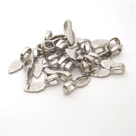 findings by sun and moon jewelry aanraku bails pendant large nickel plated jewelry bails 25 pack aanraku