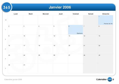 Calendrier Janvier 2006 Calendrier Janvier 2006