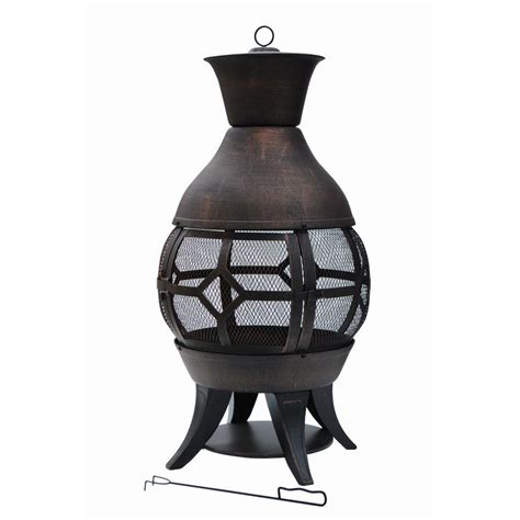 Outdoor Cast Iron Chiminea by Outdoor Fireplaces Outdoor Heating The Home Depot