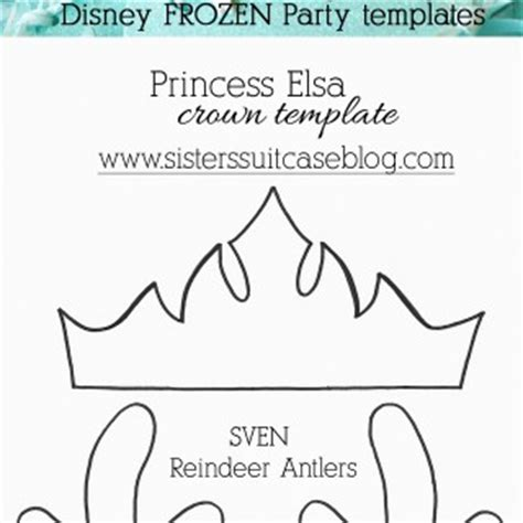 printable frozen crown template frozen archives my sister s suitcase packed with