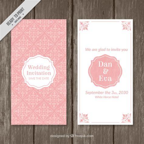 Hochzeitseinladung Vintage Rosa by Rosa Vintage Hochzeitseinladung Der Kostenlosen