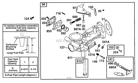 briggs and stratton carburetor parts diagram briggs and stratton 090202 0104 01 parts diagram for