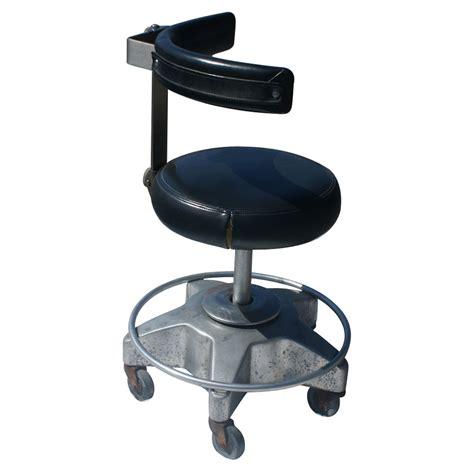 vintage black flex aire dental operating stool