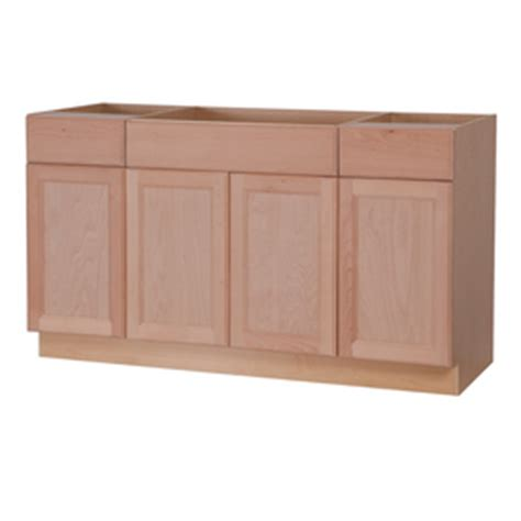 lowes unfinished base cabinets shop style selections 60 in w x 34 5 in h x 24 6 in d