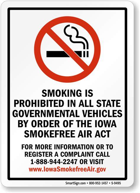 no smoking sign gov iowa no smoking signs no smoking signs by state