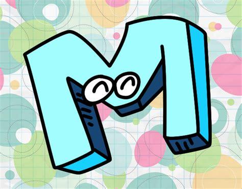 desenho de letra m pintado desenho de letra m pintado e colorido por usu 225 n 227 o registrado o dia 05 de mar 231 o do 2017