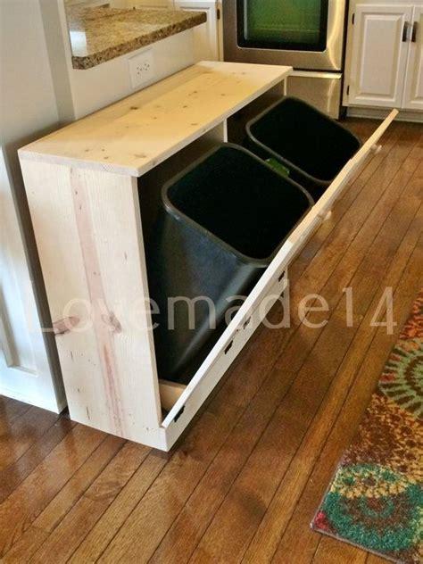 Free Ship, Double, tilt trash bin, recycle Bins Rustic