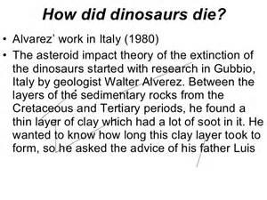 How Did Dino Die How Did Dinosaurs Die