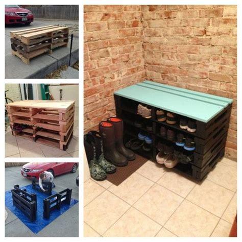 diy pallet shoe bench storage benches pallet shoe racks and diy pallet on